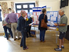 At the display 3 Oct 2015 in Harston village Hall