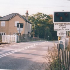 1994. Level crossing and Station House. Note full gates gone! | (Deacon)