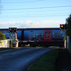2015. Station Rd level crossing - note half gates! | (Griffin)