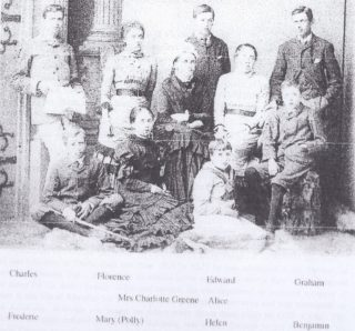 Greene family after death of father William Greene probably mid 1880s | (Deacon)