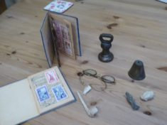 Artefacts found in garden and house of No 6 Button End in 1968