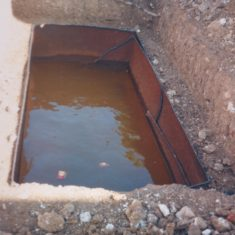 Coach & Horses underground petrol tank discovered, poss 1988 | (Deacon)