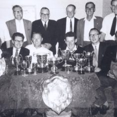 Queens Head Don Salter publican left back row 1960s/70s | (Deacon)