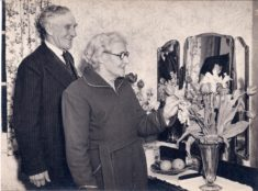 Claude & Beatrcie Chapman's 50th Wedding Anniversary at Riverdale Cottage, Haslingfield Rd 1954