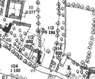 1885 Map showing lost cottages by The Footpath and Pantile Cottage | Cambridge Collection