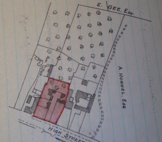 Nos 51-53 High St plan with 1947 conveyance (2 plots sold) | (Coad)
