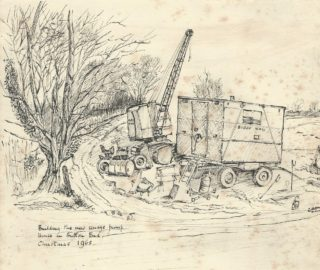 Button-End-sewage-station being built Dec 1965 | (WI 1915-1965 Scrapbook)