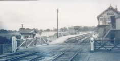 Level crossing at Harston Station 1935