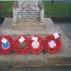 War memorial Remembrance Sunday 8 Nov 1998 | (Deacon)