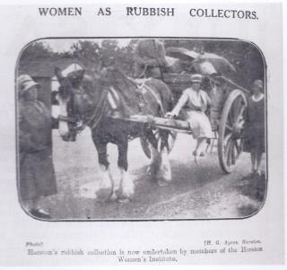 Harston ladies rubbish collection | (Deacon)