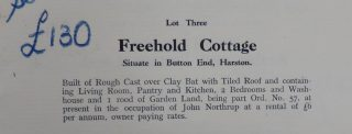 Baggot Hall sale of Violet Cottage 1932 | (CRO)