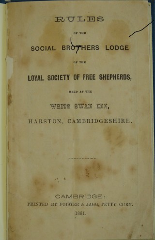 Rules of Loyal Society of Free Shepherds 1861 | (Cambridge Collection)