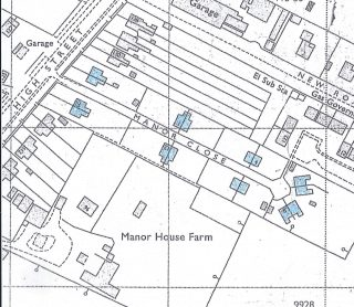 Council housing Manor Close 1971 in blue
