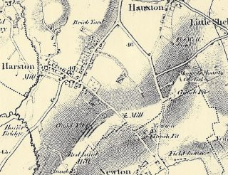 1805 map showing location of windmill | (Marriott)