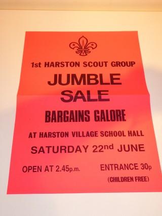 Scout jumble sale poster   (Summerfield)