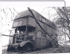 Jill Thorne's double decker home 1966