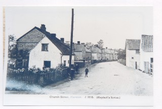 1920s Dormer Cottage, No 5 Church St to left looking west 1 dormer, no side or end porch. | (Deacon)