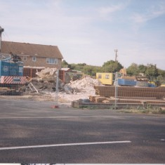 1990. No 123 service station during demolition | (Deacon)
