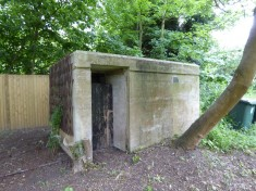 Photo of old air-raid shelter still in garden of the Old House, 25 High St