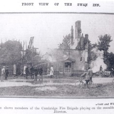 No 27 Royston Rd White Swan Inn destruction by fire 9th May 1928 | (Deacon)