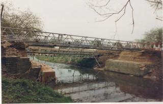Haslingfield Road bridge during replacement 1989 | (Deacon)