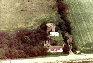 Dec 1965 aerial view of Mill plus caravan | (M Hughes)
