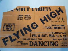 Scouts Flying High 1938 Show in Village Hall poster