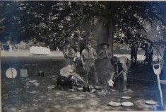 Hinxton Scouts Camp 1934  Beavers kitchen