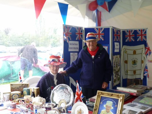 Irene & David Deacon 2012 display at Jubilee Celebration at the Rec