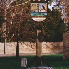 Village sign on Swan Green 2014   (Griffin)