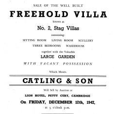 Stag Villa sale | (Cambridge Archives)