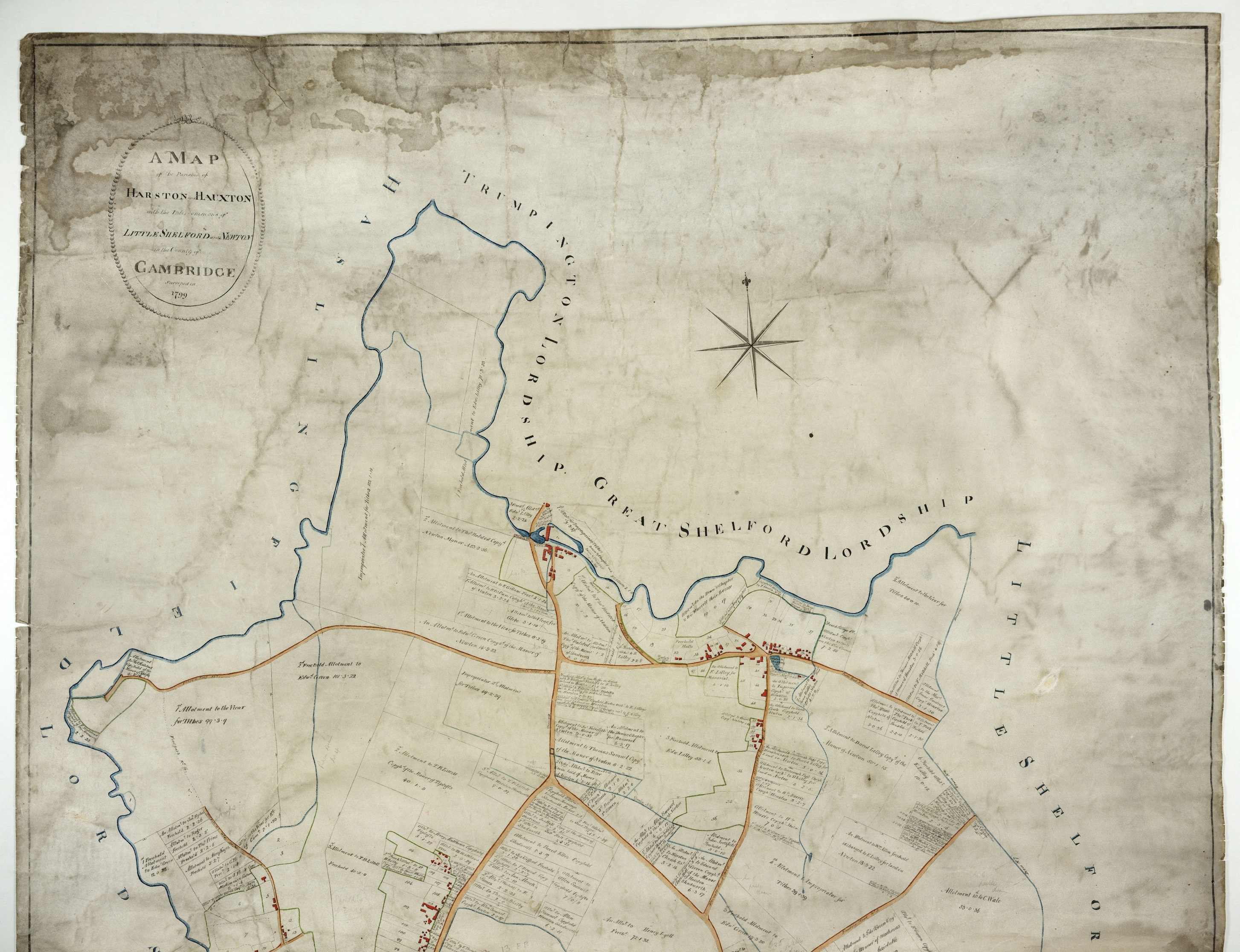Inclosure Map 1799 | Maps | Harston History on