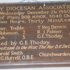 Harston church bell ringing achievements ('mm' | (Deacon)
