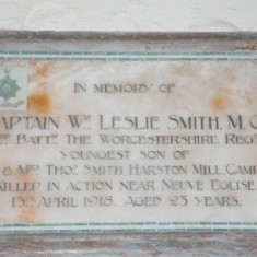 Church memorial tablet inside | (Deacon)