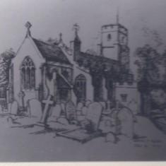 Harston church by Marian F Allen 1970 | (Deacon)