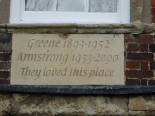 Inscription on front of Harston House | (Roadley)
