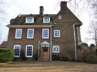Jan 2015. west entrance to Harston House | (Roadley)