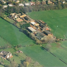 Aerial photo of Baggot Hall Farm 1990s | (Bull)