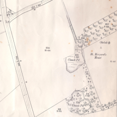 Clunch pits, Maggot's Mount | (1885 OS survey)