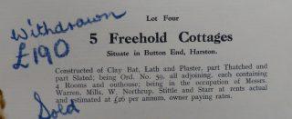 Baggot Hall sale 1932 of Greystones etc Button End | (CRO)