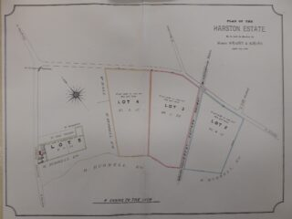 1886 Sale map of Manor Farm, High St (CRO)