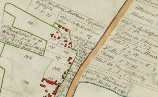 1799 Inclosure map centred on the manse site | (CA)
