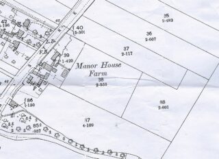 1901 OS map showing Manor House Farm (CC)