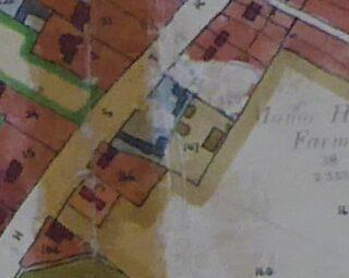 1949 Land Use survey map showing remaining farm buildings (CRO)
