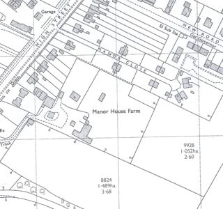 1971 O.S. Map showing 1960s houses - Nos 104 & 106 High St
