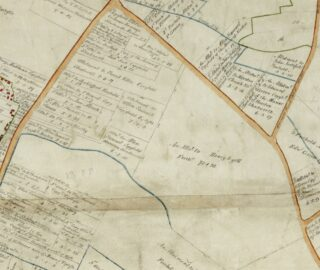 1799 Inclosure map showing land that became Manor House Farm (CRO)
