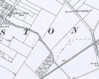 1901 OS map of Manor house Farm