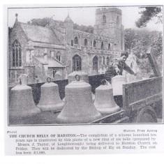 All Saints Parish Church new bells 18.06.1937 | (Deacon)