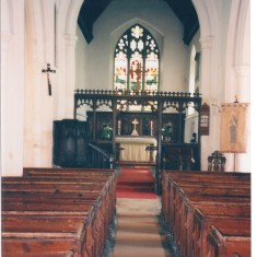 All Saints Parish Church interior May 1996 | (Deacon)