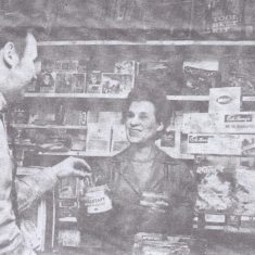 Mrs D Burl postmistress & tobacconist at 28 High St; lived in village for 20 years 1968 | (CIP)